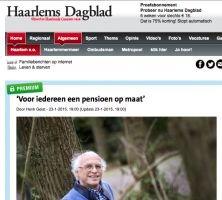Interview over pensioenen in het Haarlems Dagblad